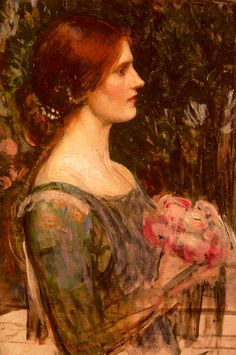 John William Waterhouse (1849-1917) The Bouquet Oil on canvas