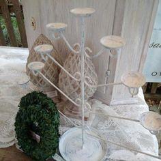 Kerzenleuchter wie ein Lebensbaum, weiß... Shabby Vintage Antik in Kitzingen byROSALIEseit2011' Nostalgie