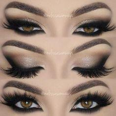 Love this smokey eye makeup idea. Gorgeous! Love the lashes too. #eyes #eyemakeup #smokeyeye