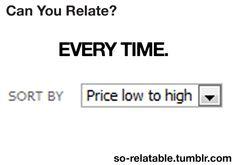 Everytime i shop online:
