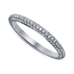 Timeless Anniversary Band Ring In Round Cut Sim Diamond 14kt White Gold FN #Aonedesigns #WeddingAnniversaryBand