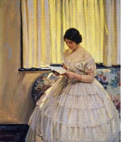 Helen Galloway McNicoll  Canadian Impressionist  1879-1915  Victorian dress  @yebosfaye  Good morning Jeanette!