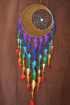 Dream Catcher Chakra Moon Luna moti firma Dream di MoonMotions