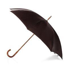 Francesco Maglia 1854 men's italian handmade light maple solid stick umbrella with brown canopy ( art.313 ), $279