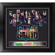 With only 1000 made, this limited edition Suicide Squad Framed Movie Art is the perfect gift for fans of the movie. It includes artwork of each member of the squad, the official logo of the film and a
