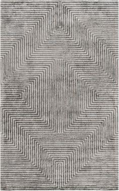 Surya Quartz Geometric Area Rug Gray