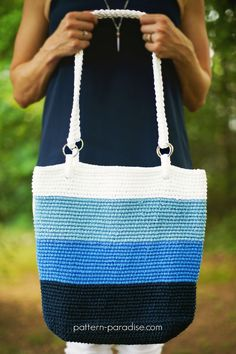Crochet Pattern: Pacific Beach Bag (scheduled via http://www.tailwindapp.com?utm_source=pinterest&utm_medium=twpin)