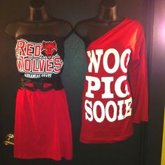 I like the ASU red wolves one.... If they made all the sports team clothes to look like this then I would wear them :-)
