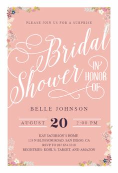 calligraphy shower free bridal shower invitation template greetings island