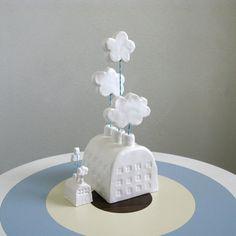 Large Cloud Factory  Ceramic Sculpture van PearsonMaron op Etsy, $50.00  Zoo leuk!