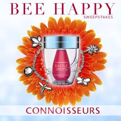 Bee Happy Sweepstakes - Connoisseurs Dazzle Drops Advanced Jewelry Cleaner - Learn how to enter at www.Facebook.com/ConnoisseursUSA