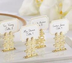 Double Happiness Place Card Holders are perfect for an Chinese theme wedding or event. Chinese place card holders feature a Chinese gold double happiness symbol. Wedding Favors Unlimited, Unique Wedding Favors, Wedding Party Favors, Wedding Ideas, Trendy Wedding, Wedding Inspiration, Wedding Invitations, Summer Wedding, Wedding Planning