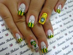 Fotos de Unhas decoradas para copa do mundo