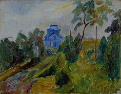 Thorvald Erichsen Edvard Munch, Building Art, Artist Painting, Fine Art, Texture, Landscape, Artwork, Art Ideas, Trees