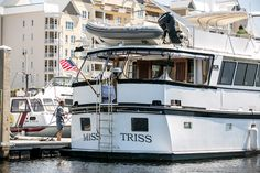 A shot of one of my great client's yacht from behind... Miss Tirss is available for private charter.