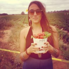 Pick up fresh strawberries. Strawberry fields. Carlsbad. Things to do in san diego.