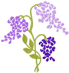 Lilac free embroidery design 2 - Flowers free machine embroidery designs - Machine embroidery community