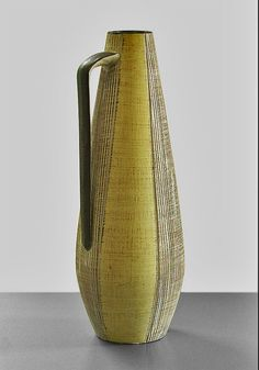 yellow - German Mid-Century vase with handle – D & B  Fat Lava Wadersloh – Flickr