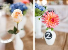 Detroit Wedding Photography | Loie Photography | Detroit & Los Angeles Wedding Photographer | Caberfae Peaks | Cadillac, Michigan | Detail | Table Vases