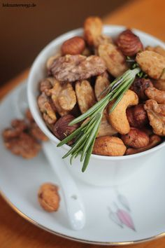 nuts - spiced with rosemary, chilli, muscovado sugar and salt