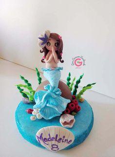 Mermaid cake topper, Mermaid theme party, Under the Sea, Mermaid Party, Personalized, Kids cake topper, Princess Mermaid, Mermaid pool party