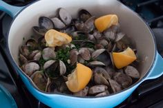 Steamed Clams with Garlic and Chives - Whats Gaby Cooking