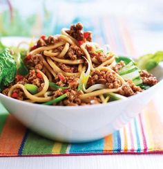 Quorn Singapore Noodles  Ready in just five minutes, this Quorn Singapore noodles recipe is quick, easy and low in saturated fat.  http://www.quorn.co.uk/recipes/singapore-noodles/