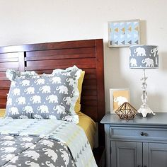 10db51e2d8 Give your big kid s bedroom some big style with the Pam Grace Creations  Indie Elephant Quilt Set. Adorned with elephants and trendy color
