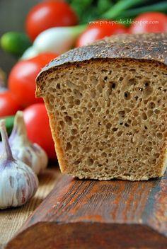 PIN - UP CAKE: Razowy chleb orkiszowy (na drożdżach) Spelt Bread, Pin Up, Recipies, Food And Drink, Breads, Polish, Brot, Recipes, Bread Rolls