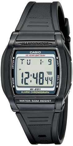 Casio Men's W201-1AV Chronograph Watch ** More info could be found at the image url.