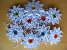 Christmas Ornaments Paper Quilling Set of 2. $5.00, via Etsy.