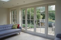 French, Bi-Fold and Patio doors from Timber Windows<br> French Doors Bedroom, French Door Curtains, French Doors Patio, Modern Patio Doors, Bifold French Doors, Sliding Doors, French Doors With Screens, French Doors With Sidelights, Timber Windows