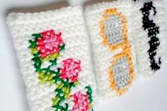 Cross stitch + crochet (pay pattern)