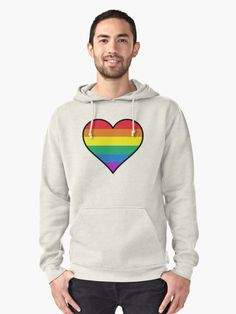 This is a heart with the LGBT flag colours on it. • Also buy this artwork on apparel, stickers, phone cases, and more.