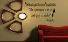 JEREMIAH 2911 For I know the plans... Wall Art by WallDecalsQuotes, $13.99