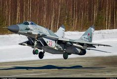 Russian Mig 29 Fulcrum taking off