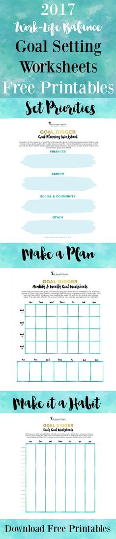 Free Goal Planning Worksheets, you can use these free printables any time of the year to make goals for yourself. Start today! {newsletter subscription required}