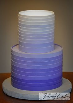 Violet Ombre Party Cake
