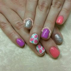 Summer nails. Corals. Floral nails. #PreciousPhanNails