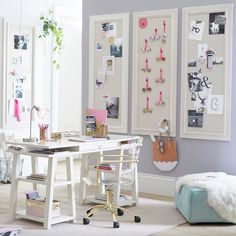 Leading 10 Stunning Home Office Design Guest Room Office, Home Office Space, Home Office Design, Home Office Decor, Home Decor, Office Ideas, Small Office, Office Style, Room Wall Decor