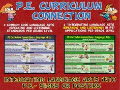 PE Curriculum Connection: Integrating Language Arts (Speaking/Listening) into PE
