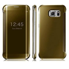 Samsung Cover TOOPOOT® New Release Clear View Mirror Flip Smart Case For Samsung Galaxy S6 Edge Plus (Gold)  //Price: $ & FREE Shipping //     #hair #curles #style #haircare #shampoo #makeup #elixir