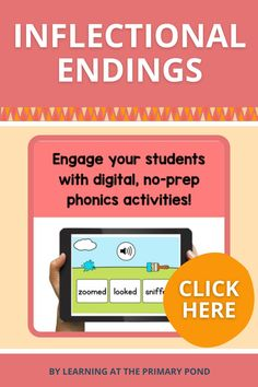 """Teach your students about inflectional endings and spelling rules for -S, -ES, -IES, -VES, -ED, and -ING with these digital phonics activities! The bundle includes Suffix -S Practice, Introduction to the """"Change the Y to an I and Add -ES"""" Suffix Rule, and so much more! Word Work Activities, Phonics Activities, Inflectional Endings, Spelling Rules, Reading Comprehension Strategies, Reading Anchor Charts, Making Words, Magnetic Letters, Progress Report"""