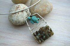 """Halsreif 925er-Silber """"Turtle in love"""" von garden of shambala auf DaWanda.com"""