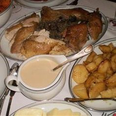 Greek Traditional Turkey with Chestnut and Pine Nut Stuffing Allrecipes.com