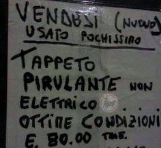 "Ahahahah!!Tappeto ""Pirulante""!"