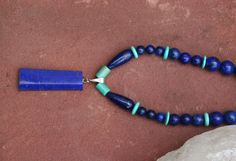 Teen Choker With Afghan Lapis Lazuli Turquise And door EASTERNSOULS