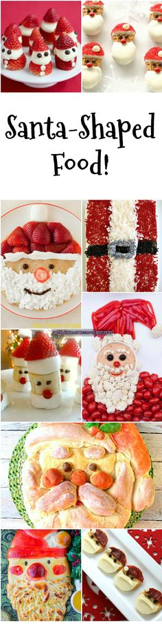 Santa-Shaped Food! There's always room for a splendid Santa at the table anytime during December, whether for breakfast, lunch, appetizer or dessert!  #Santa #Santashaped  #Christmas #Christmasrecipes #Shockinglydelicious