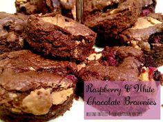 bellini intelli recipes - raspberry & white chocolate brownies