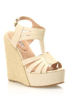Charles by Charles David Bali Wedges in Off White - Beyond the Rack